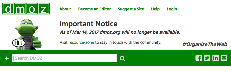 DMOZ-The open Directory