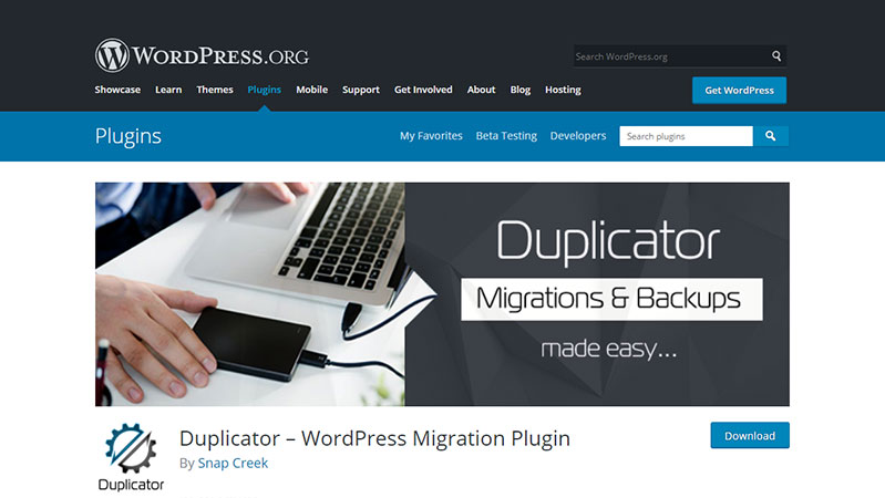 Duplicator WordPress Migration Plugin