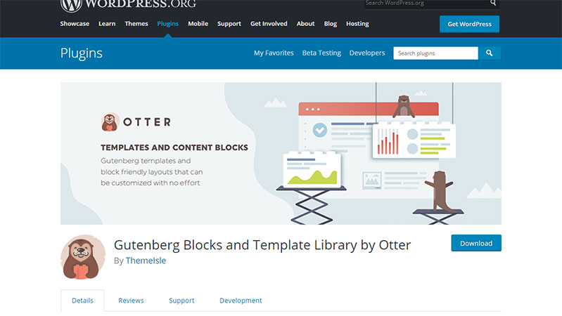 Otter: Best Free WordPress Plugin for Readymade layout and templates