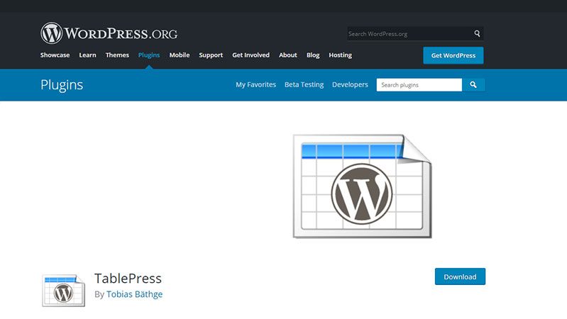 Table Press: Best free WordPress Plugin for Creating Tables in Post