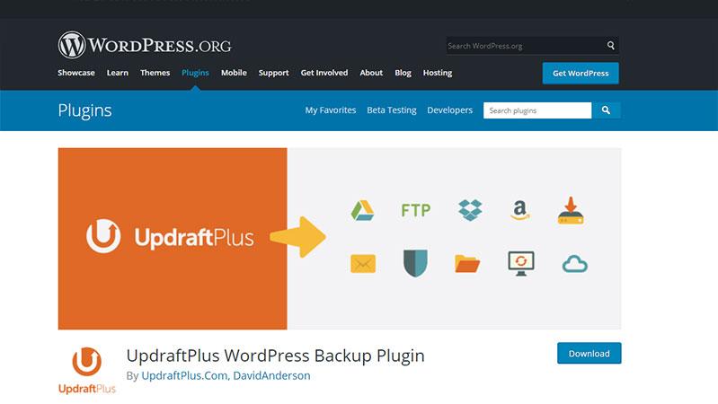 Updraft Plus WordPress Backup Plugins