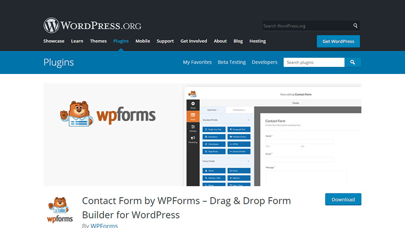 WPForms : Best free WordPress plugin builder for Contact form builder