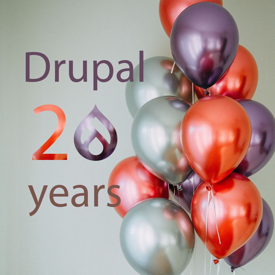 Drupal celebrates its 20th anniversary in 2021