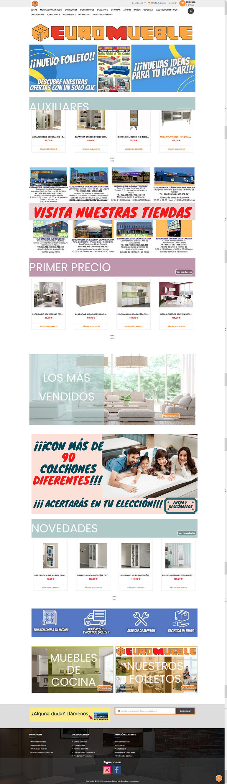 home page of magento 2