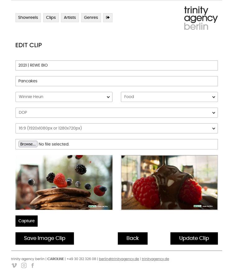PHP application development crop video clips thumbnail