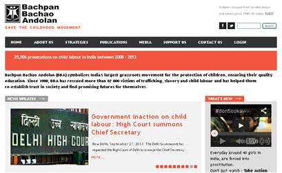 BACHPAN BACHAO ANDOLAN - A NGO SITE ON DRUPAL