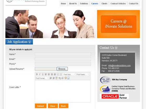 iNovate Solutions - Custom HTML Website