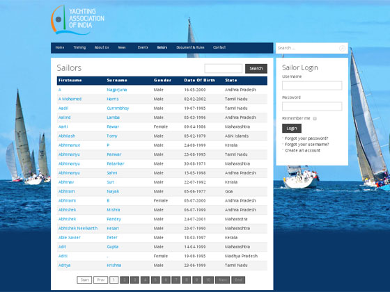 Yachting Association of India - Joomla 3.x Website